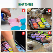 Load image into Gallery viewer, Reusable Silicone Baking Cups