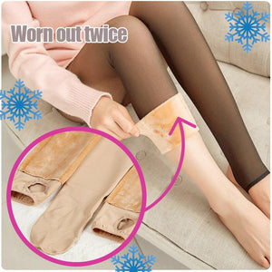 Faux Sheer Warming Pantyhose