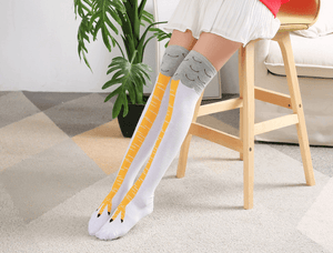 3D Cartoon Chicken Leg Socks