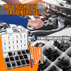 Easy Push Clip Fasteners Set