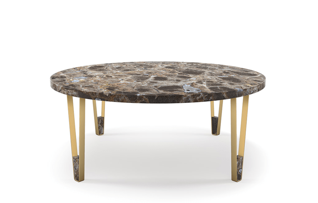 Ionic Marble Coffee Table - Round - Luxury Marble Furniture
