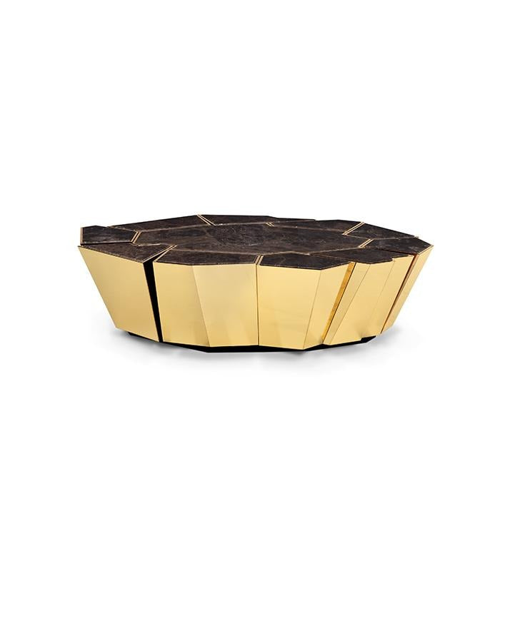 Crackle Marble Coffee Table / Centre Table - Luxury Marble Furniture