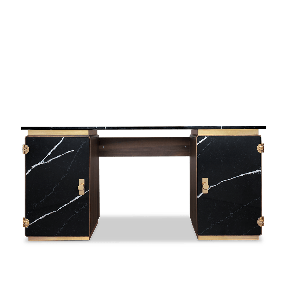 Lasdun Marble Desk - Luxury Marble Furniture