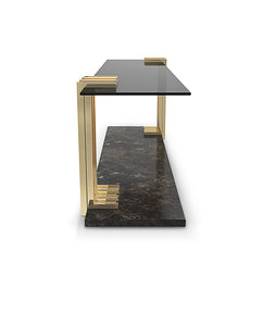 Vertigo Long Marble Side Table
