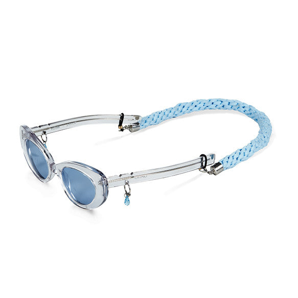 Pale Blue Braided Lanyard