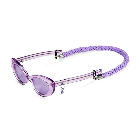 Lilac Braided Lanyard