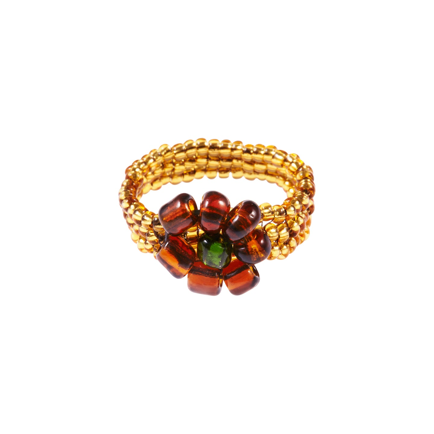 Floral Ring - Brown