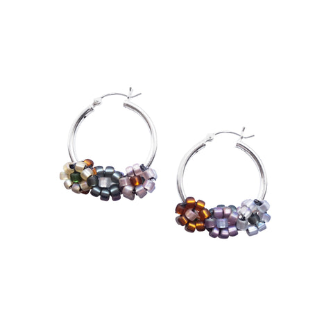 Sterling Silver Floral Hoop & Hair Clip Bundle for 'So Major'
