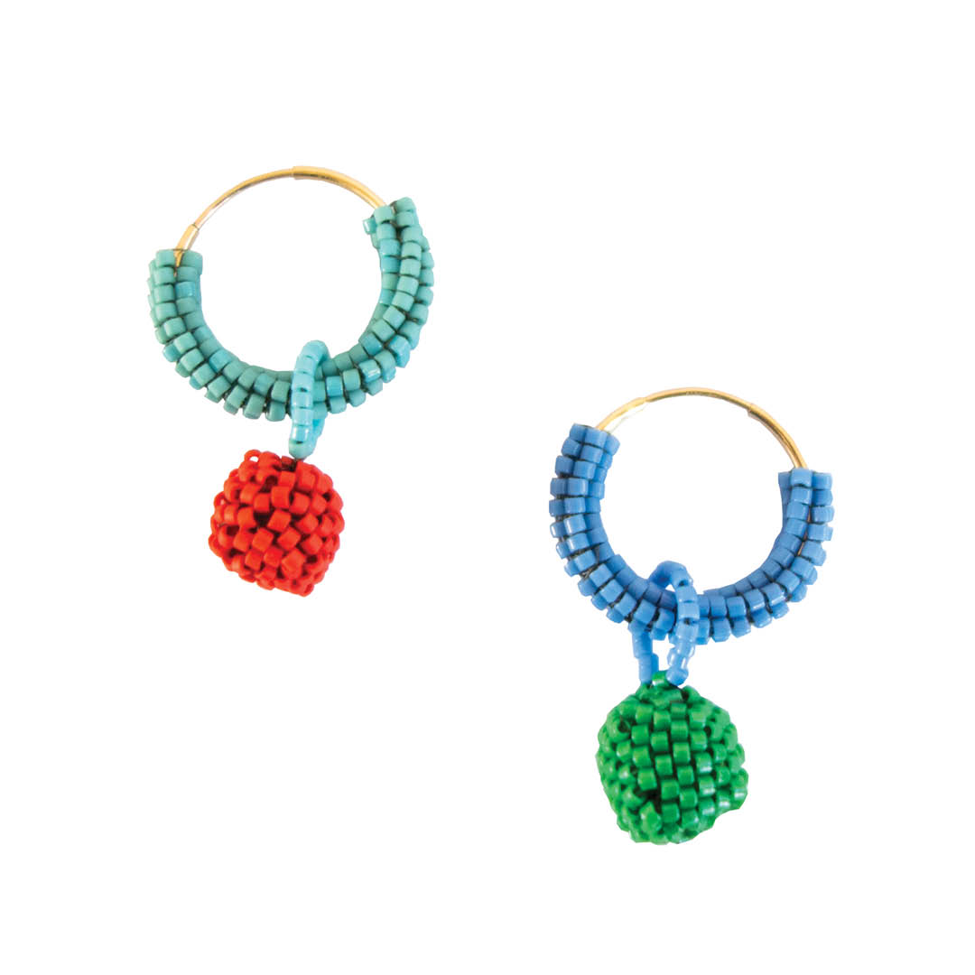 Multi Colour Hoop Earrings