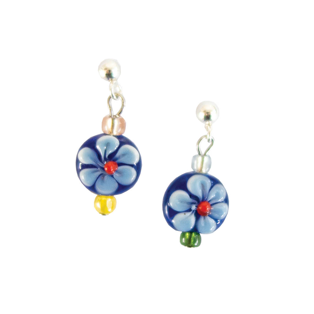 Floral Glass Studs
