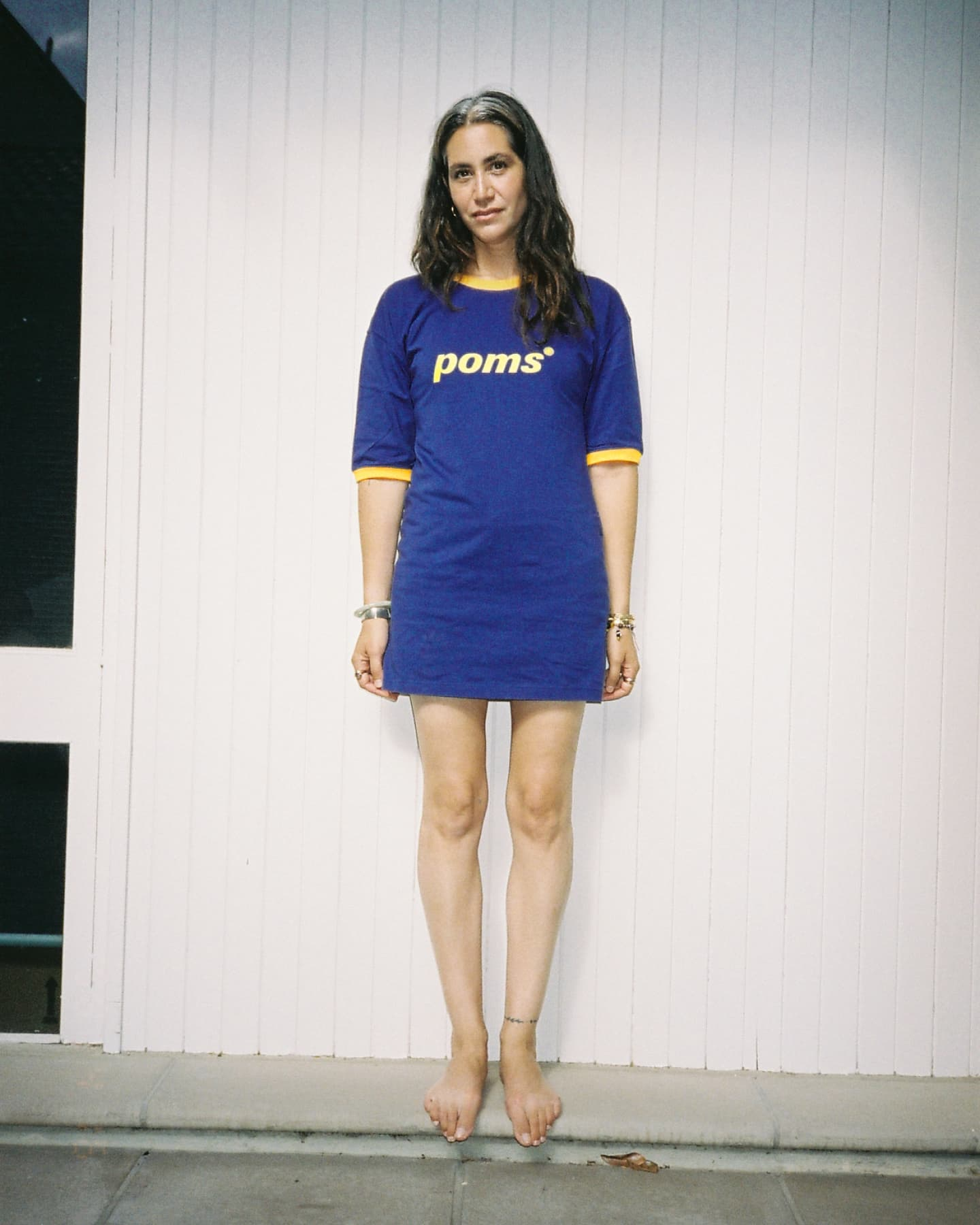 [PREORDER] POMS Ringer Dress - Royal Blue / Gold