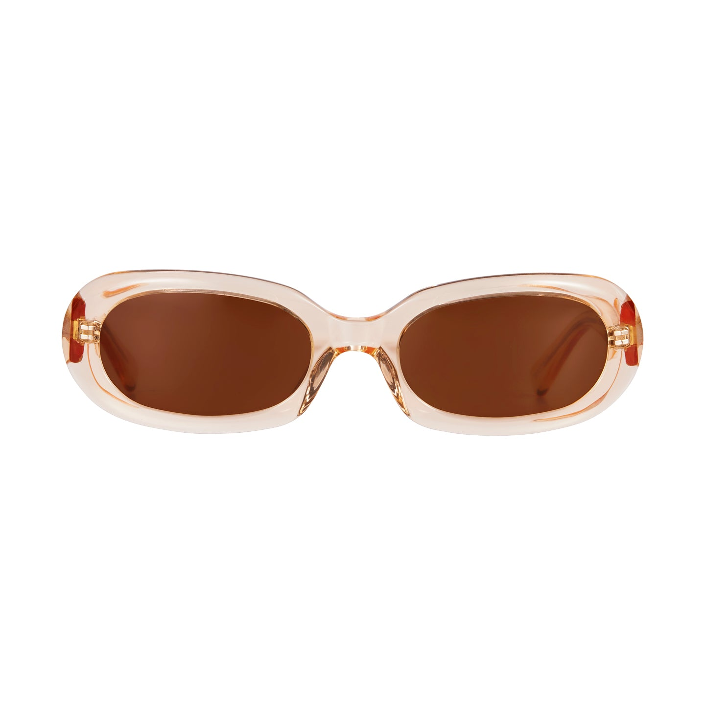 Retta Peach & Brown Sunglasses