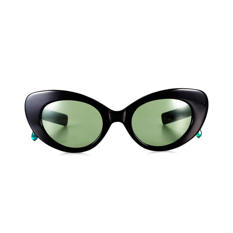 Gatto Poms x Pared Black & Green Frames