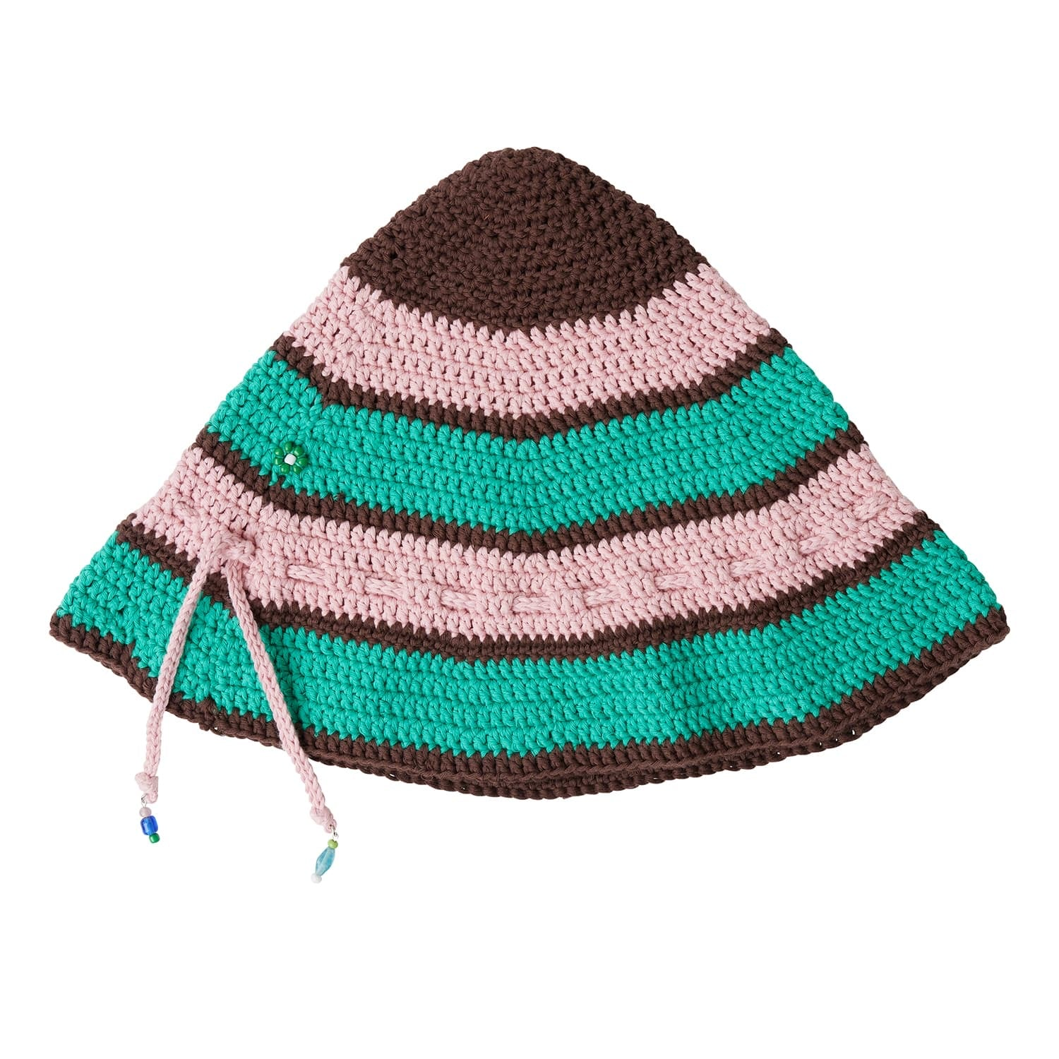 MILLEFIORI HAT - Pink & Green Stripe