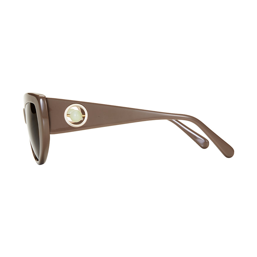Gemma Khaki & Brown Sunglasses