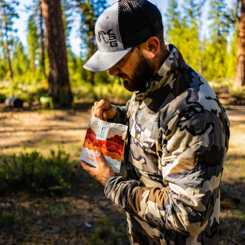 Customer Testimonial Photo - Sausage Scramble - Backpacking Meals