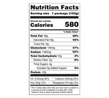Load image into Gallery viewer, Backpacking Meals - Nutrition Facts - Italian Meatball