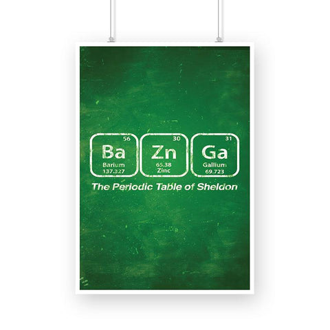 The Big Bang Theory, Periodic Table Poster