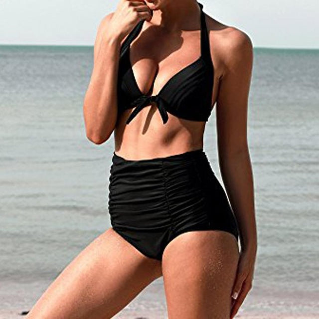 Popular High Waist Vintage Bikini