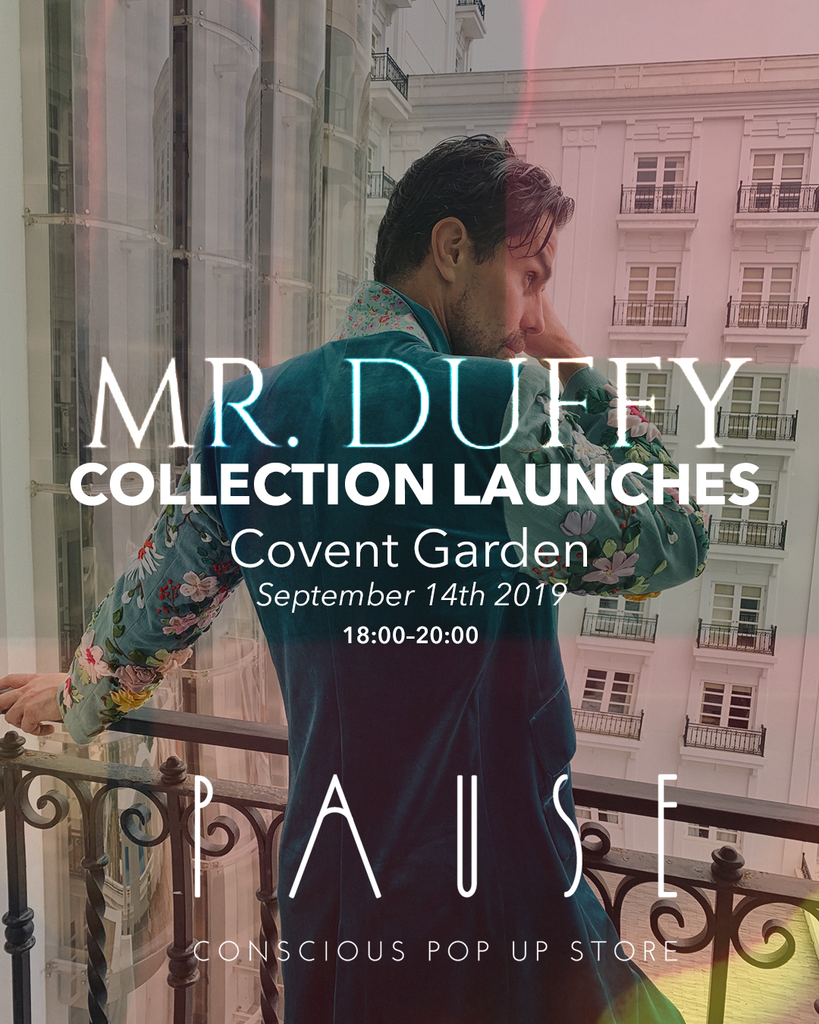 Mr Duffy collection launches at PAUSE London Fashion Week Edition