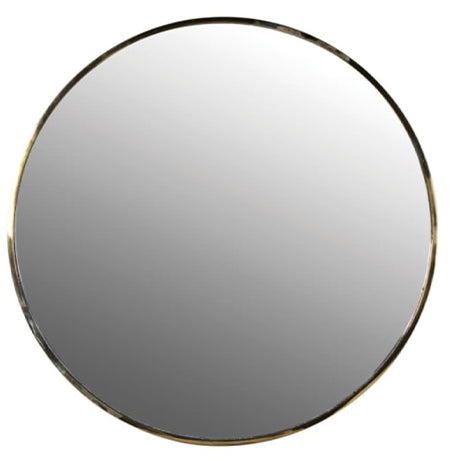 Gold Trim Round Mirror
