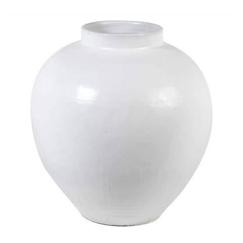 Large Ceramic White Vase