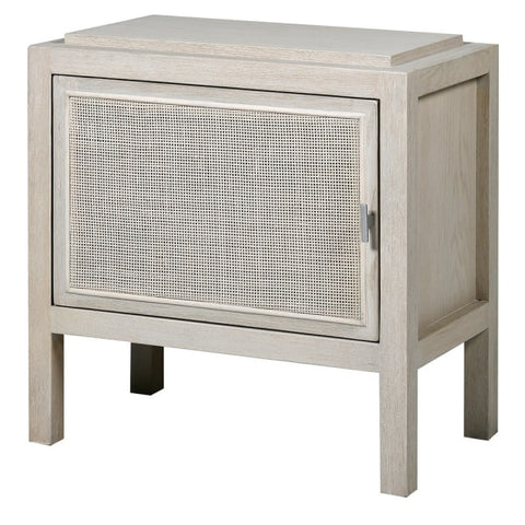 Wht Wash Rattan B/Side Table