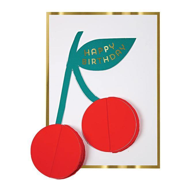 Cherries Honeycomb Card