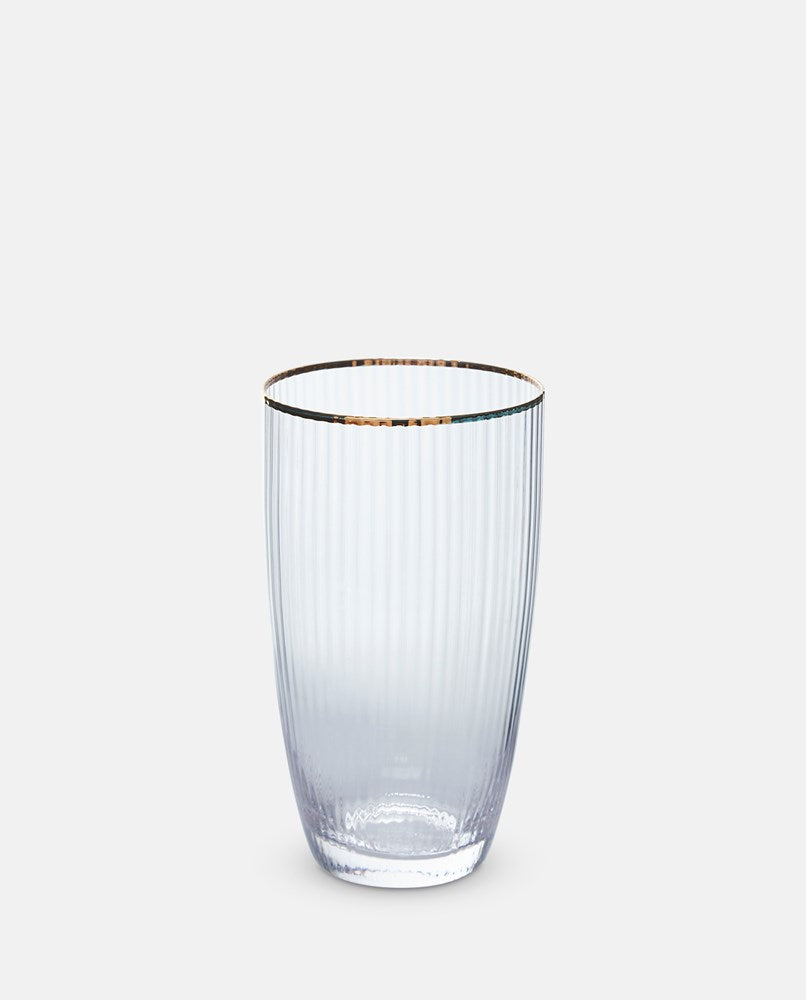 Italia Gold Rim High Ball Glass