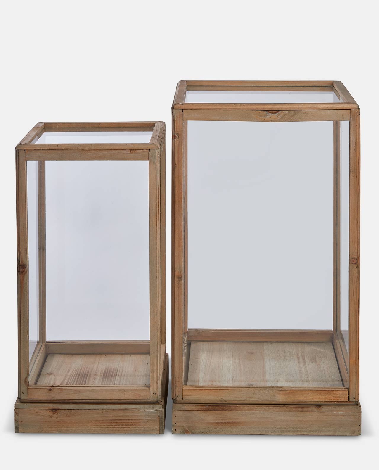 Natural Wood Display Case L