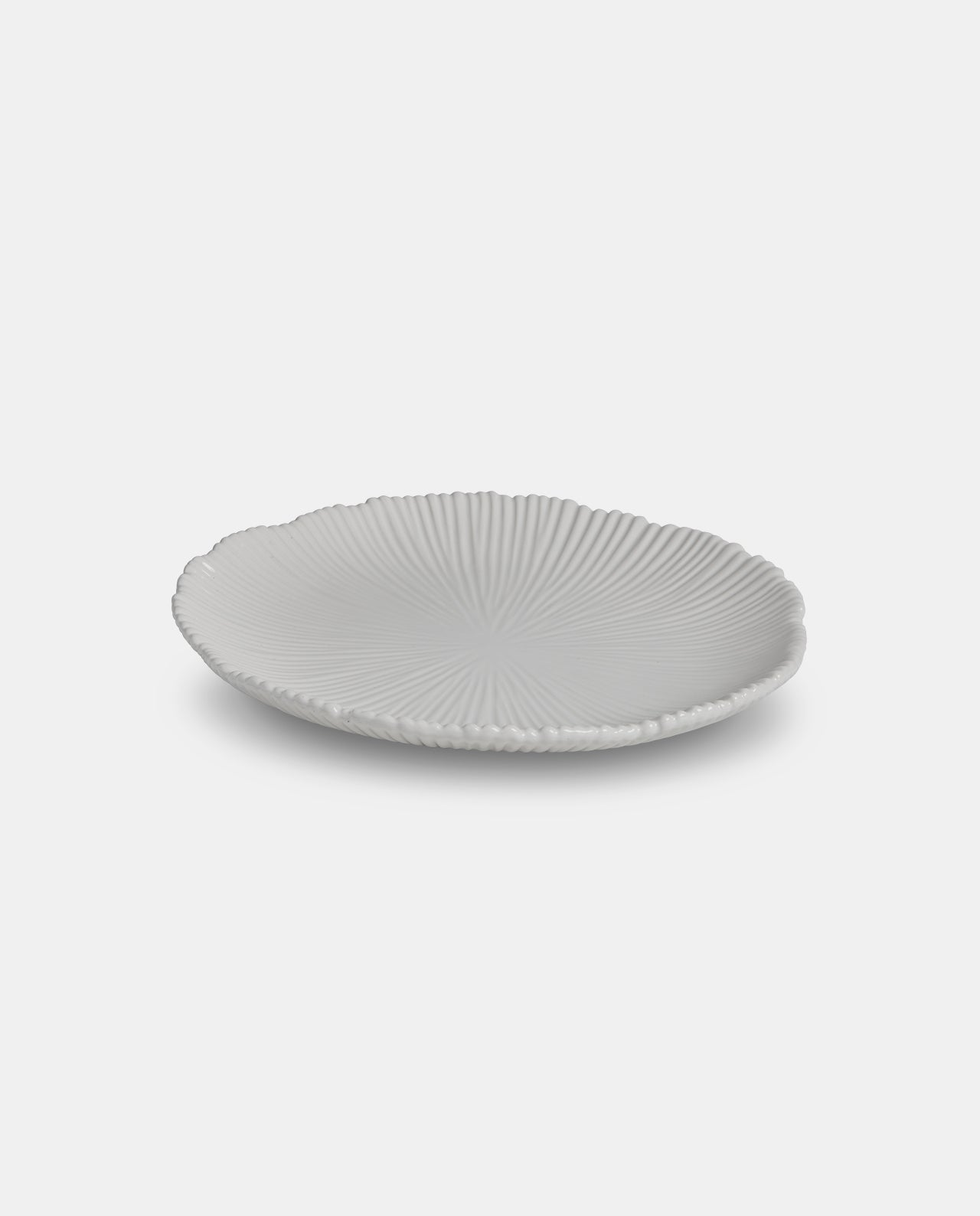 White Ceramic Dining Plate 28x28x3cm