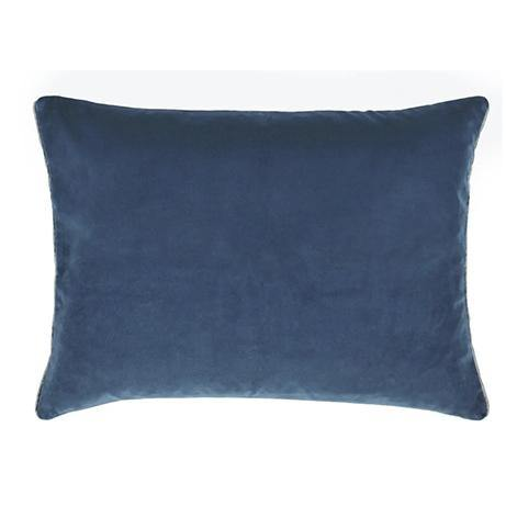 Cassia Cushion / Prussian & Graphite