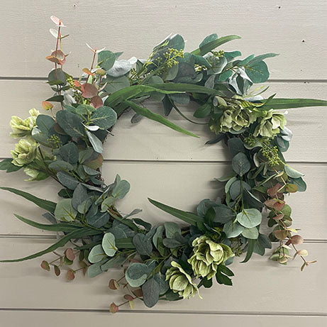 Eucalyptus Mixed with Helleborus Wreath