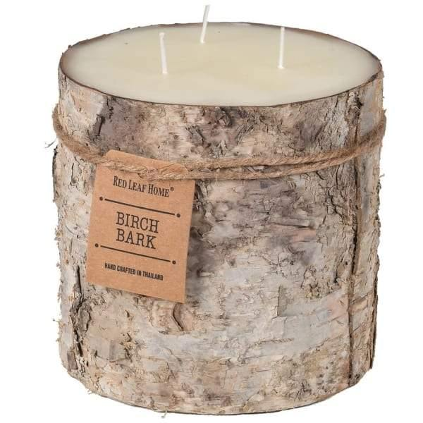 Large Birch Bark Candle