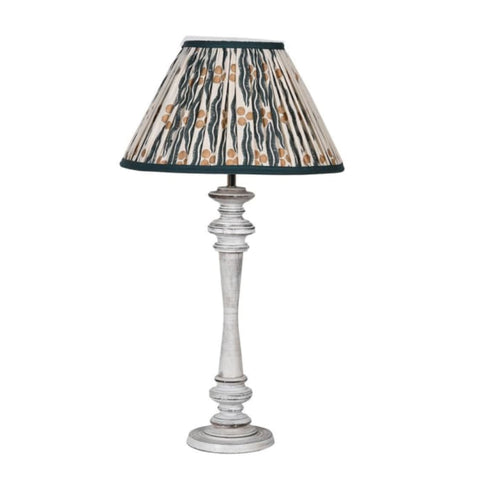 Wash Wood lamp/ Ikat Shade
