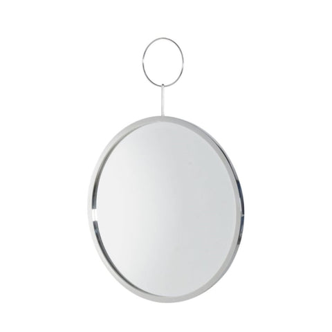 Silver Hoop Round Wall Mirror