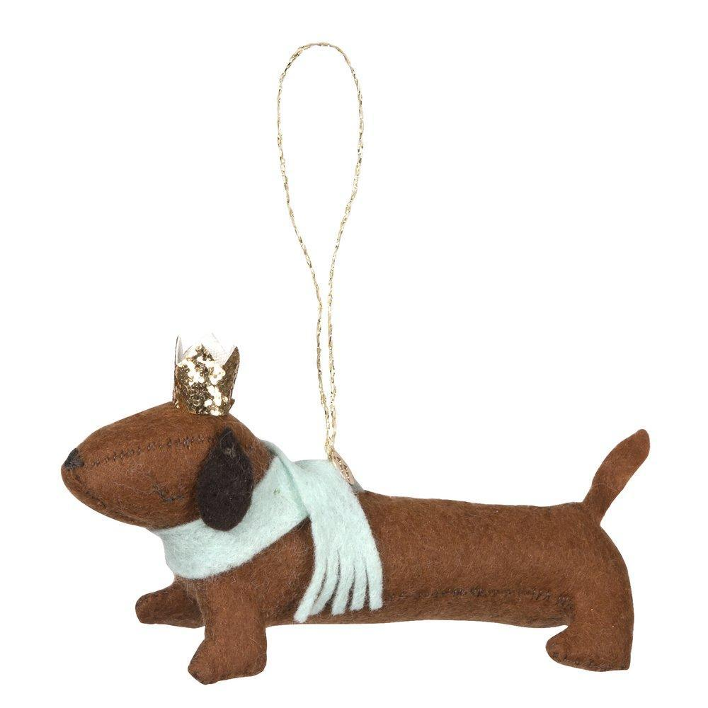 Sausage Dog Felt Tree Decoration