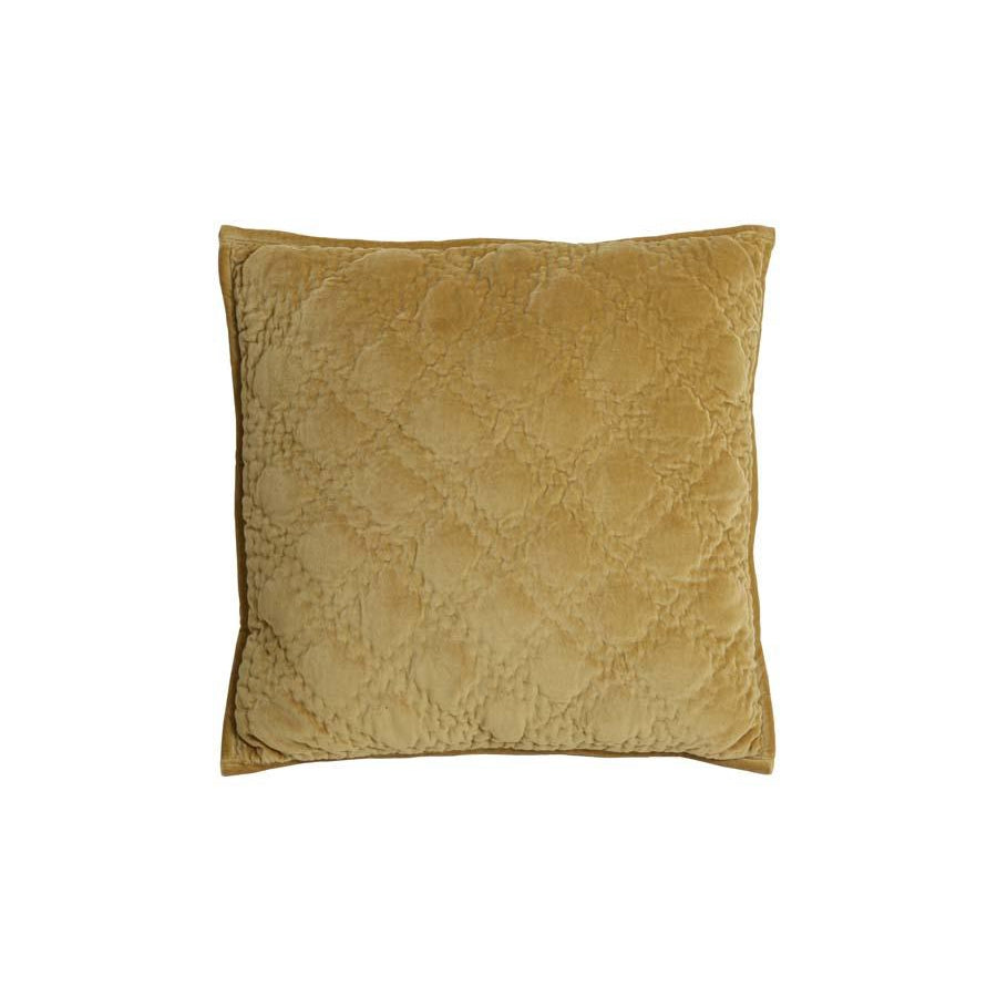 Diamond Velvet LtGold Cushion 50cm