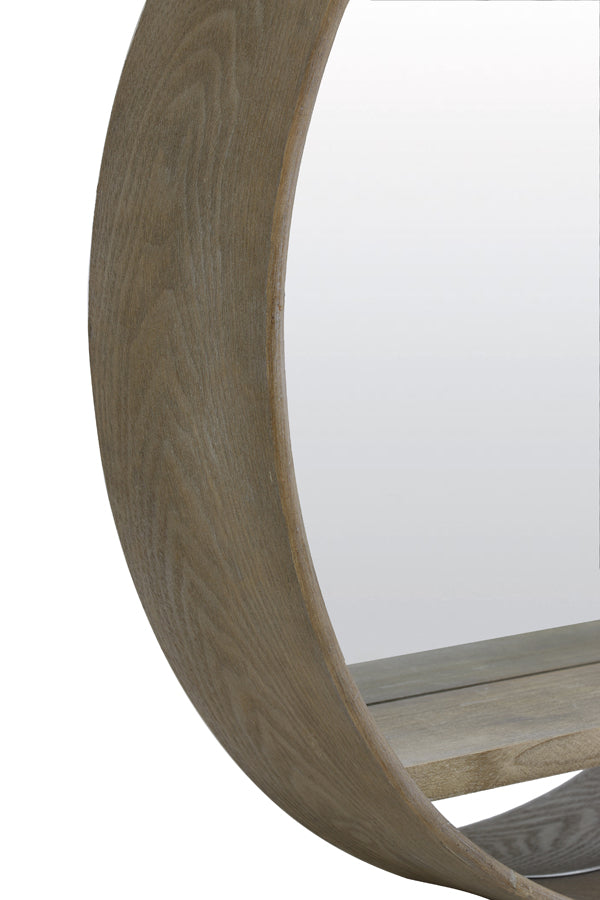 Mirror Viria L wood light brown