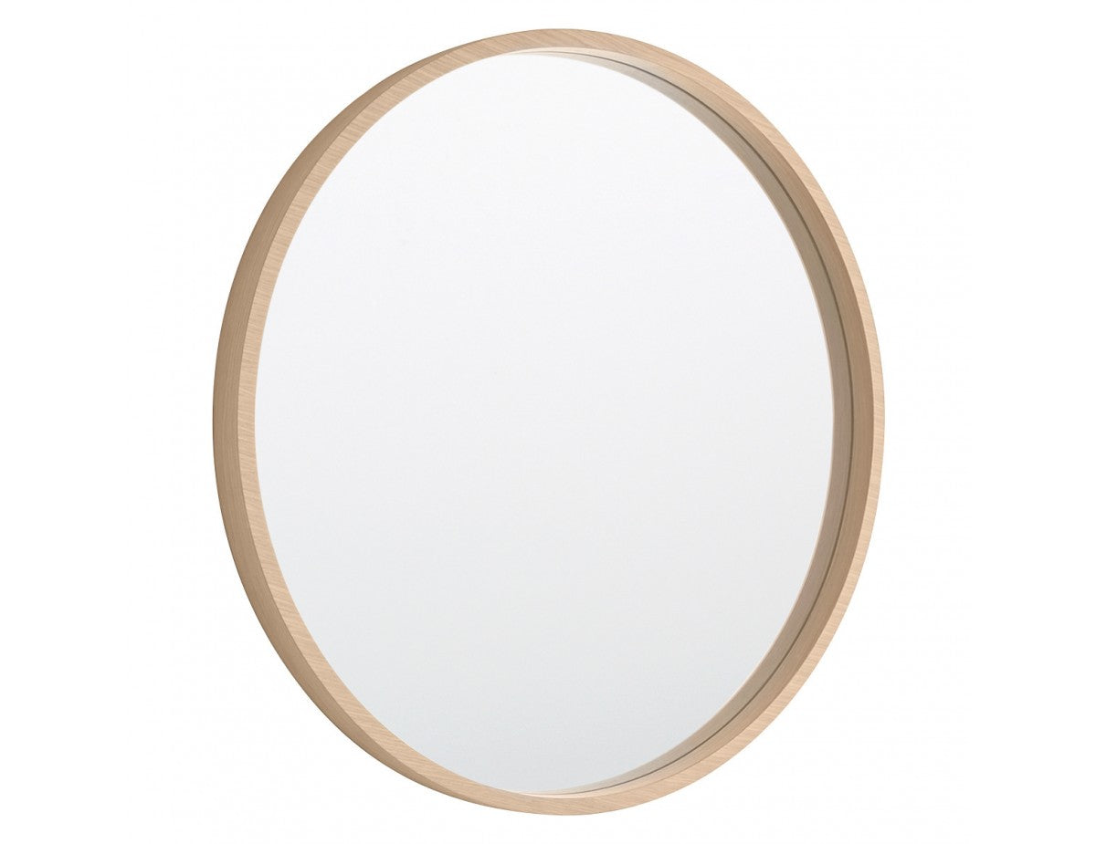 Mirror Vivien S wood light brown