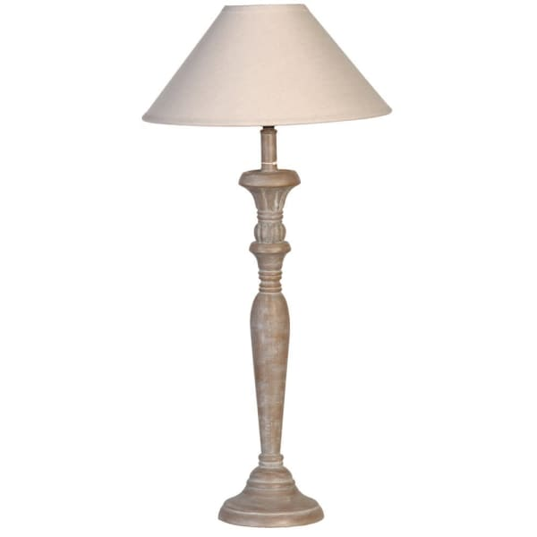 Grey Wash Candlestick Lamp