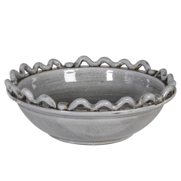 Grey Wave & Bobble Bowl
