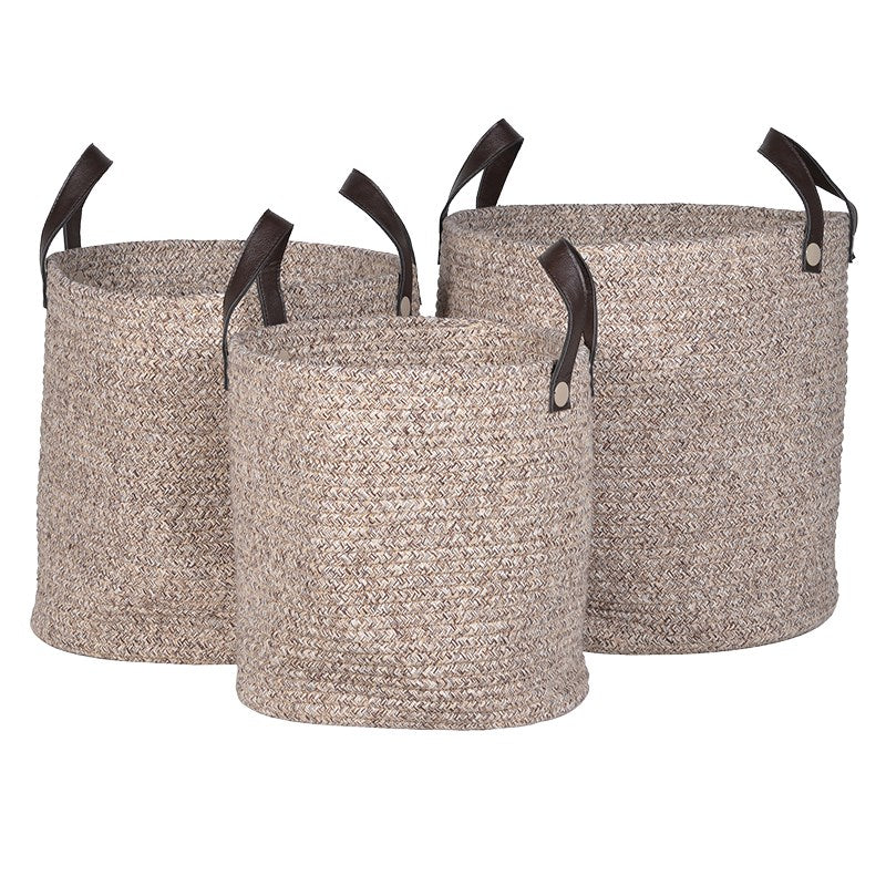 Rope Baskets with Handles Large