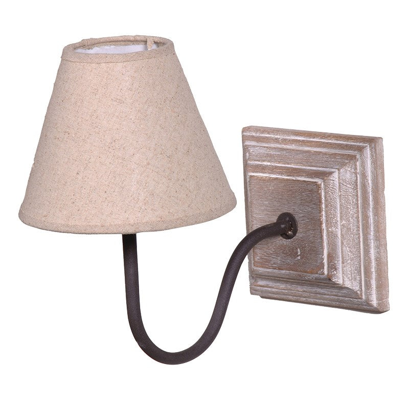 Cream Wash Square Plaque Wall Light