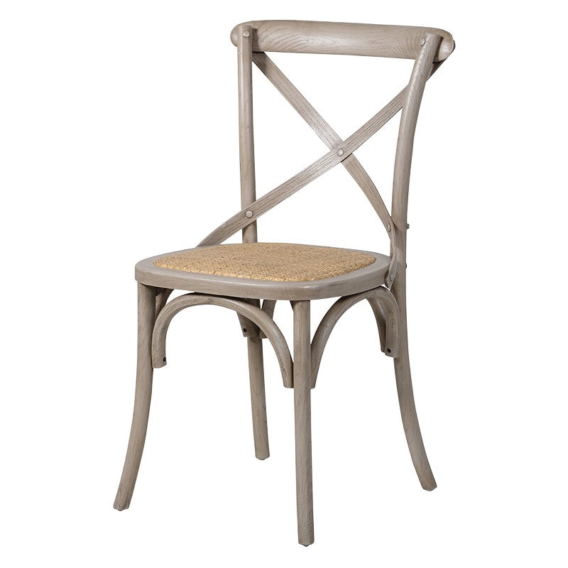 French Grey X-Back Dining Chair
