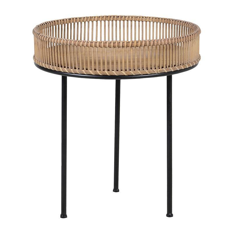 Round Bamboo Tripod Tray Table