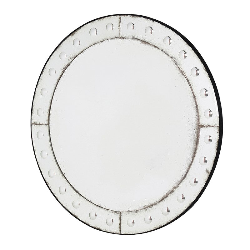 Large Round Bubble Border Mirror