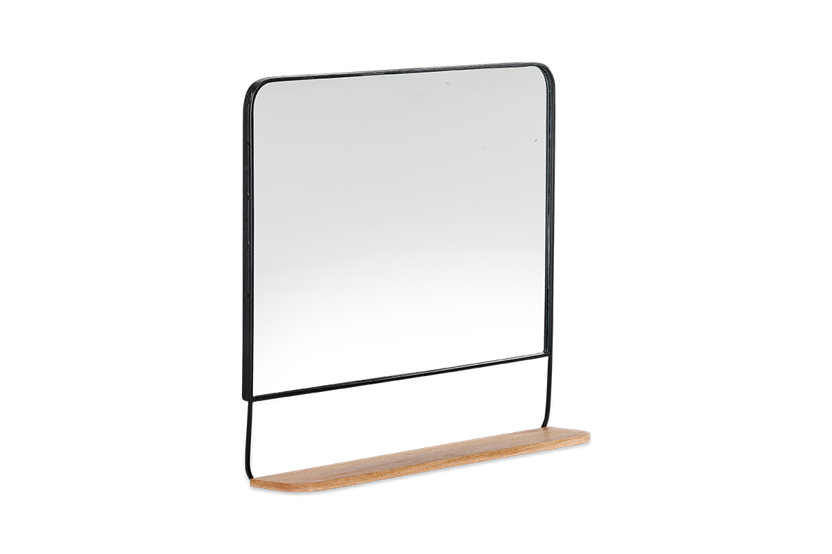 Harni Mirror (Land) Black/Mango Wood