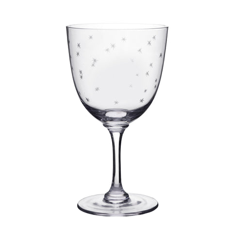 WINE GLASSES WITH STARS SET OF 6