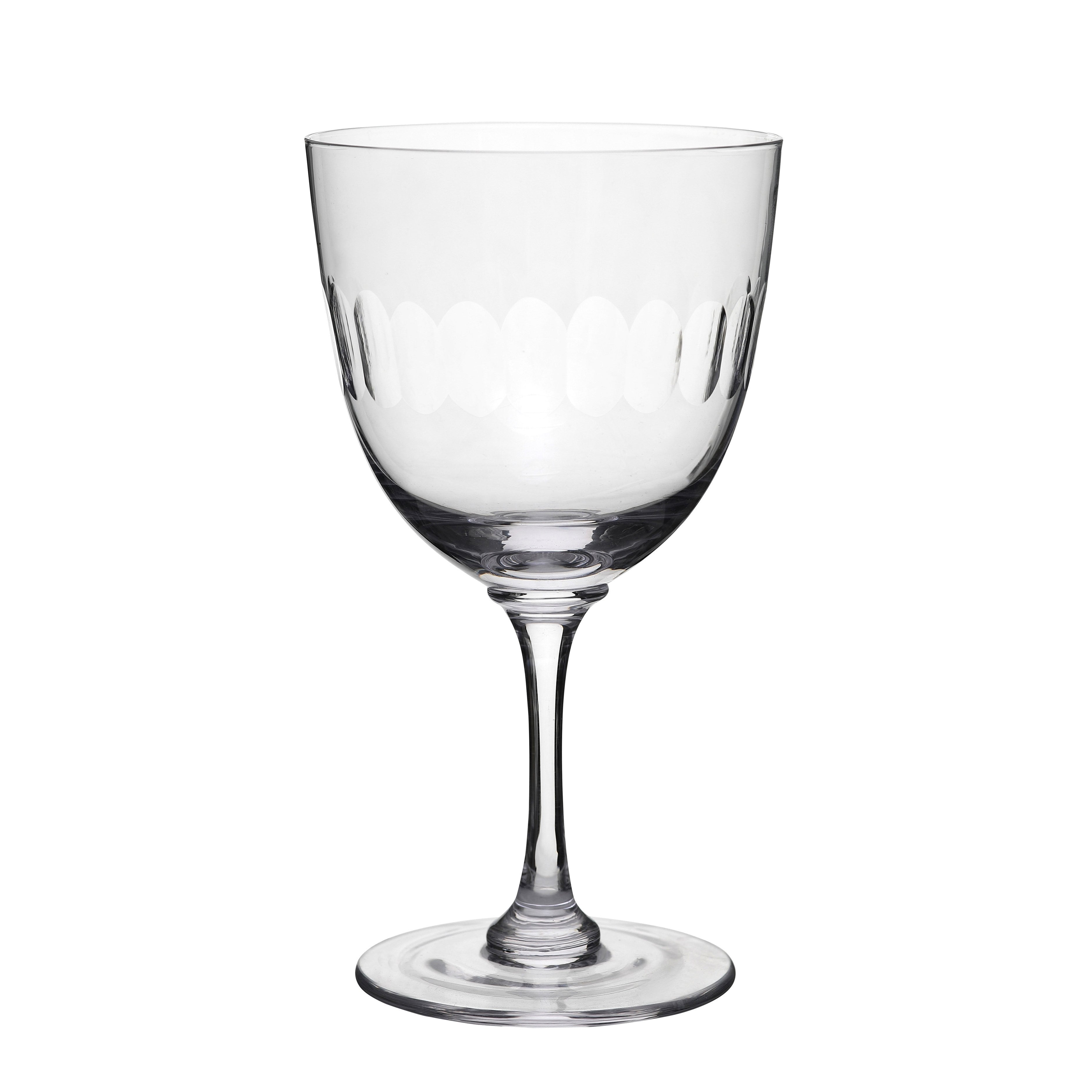 WINE GLASSES WITHLENS SET OF 6